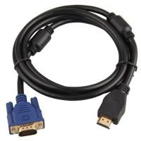 Alpexe 1,8 m HDMI mâle vers VGA HD-15 Male 15 broches câble adaptateur 1080P