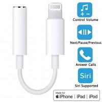 Alpexe Adaptateur pour écouteurs pour iPhone7/8/ 8Plus/X/XS/XR Connecteur Audio Tous Les système iOS
