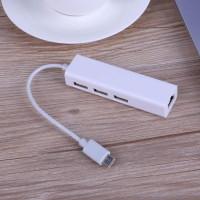 Alpexe HUB UBS-C à réseau LAN Ethernet RJ45 adaptateur avec 3 ports USB 2.0 pour iMac