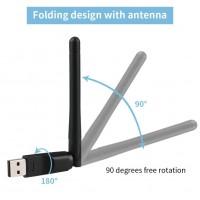 Alpexe Dongle WiFi 300Mbps, Clé WiFi Adaptateur USB pour PC Windows etc