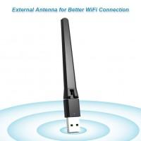 Alpexe Adaptateur WiFi Externe USB 2.0 de 300 Mbits/s avec antenne Mini Carte réseau LAN sans Fil