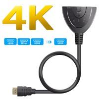 Alpexe HDMI Switch 4k, GANA Switch HDMI Sélecteur 3-Port Switcher HDMI Splitter, Câble Commutateur Hdmi Prend en Charge 4K/1080P