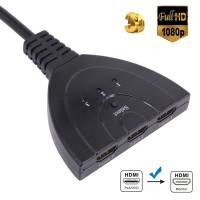 Alpexe Commutateur HDMI Automatiques 4k, 3 Entrées 1 Sortie HDMI Switch pour HDTV Lecteurs DVD Blu ray PS4 Xbox Apple Fire Roku