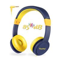 Alpexe Casque Audio avec régulateur du Volume réglable Enfants (sans Micro) Bleu