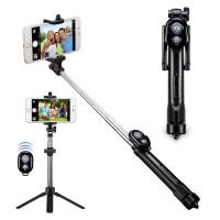 Alpexe MINI monopode Bluetooth à distance + Selfie bâton trépied + 3 en 1 extensible