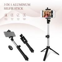Alpexe Perche Selfie, Selfie Stick Bluetooth Trépied Télescopique 3 en 1 Extensible 360° pour Iphone X 8 7 Samsung Sony Huawei