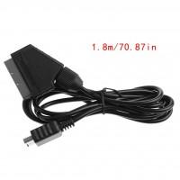 Alpexe Câble péritel RVB pour Console de Jeu Playstation PS2 Slim Line 1,8 m