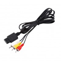 Alpexe N64 Cable, 1.8m stéréo vidéo AV RCA pour Nintendo Gamecube/NGC/Nintendo 64/N64