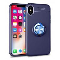Alpexe Coque pour iPhone 11 Pro/XS/S Bleu pivotant à 360 degrés TPU et aimants pour Voiture