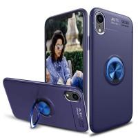 Alpexe Coque iPhone 11 Pro/XS/S en TPU avec Anneau de Rotation à 360 degrés Support Voiture magnétique (Bleu)