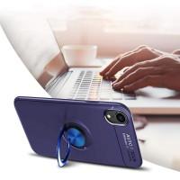 Alpexe Coque avec Bague iPhone 11 Pro/XS/S 360° Support Voiture Magnetique Couleur Bleu