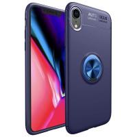 Alpexe Coque iPhone 11 Pro/XS/S avec Anneau, Rotation Bague Support Arriere Bleu