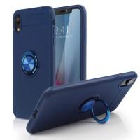 Alpexe Coque pour iPhone 11 Pro/XS/S , Rotatif à 360 degrés pour Support de Bague de Doigt Bleu