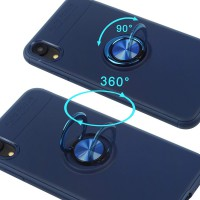 Alpexe Coque Bleu Support voiture Aimant pour iPhone 11 Pro/XS/S