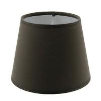 Abat-jour forme Américaine - Ø 14 x H 11 cm - Polycoton - Brun poivre