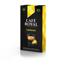 10 capsules Cafe Royal Espresso Capsules compatibles Systeme Nespresso