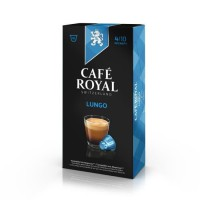 10 capsules Cafe Royal Lungo Capsules compatibles Systeme Nespresso