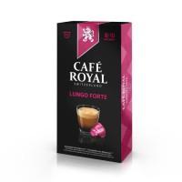 10 capsules Café Royal Lungo Forte Capsules compatibles Systeme Nespresso