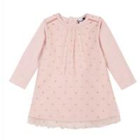 3 POMMES Robe Bois de Rose Imprimé Bébé Fille