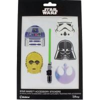6 Autocollants Star Wars The Last Jedi