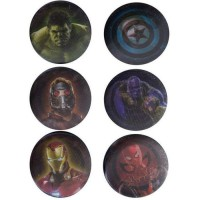 6 badges effet lenticulaire Marvel - Avengers Infinity War: Héros