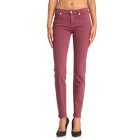 7 FOR ALL MANKIND Jean Skinny Second Skin Femme - Rouge