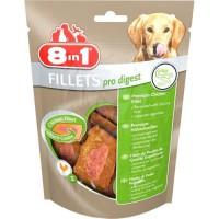 8in1 Filets de poulet séchés Pro Digest enrichis en poudre de racine de chicorée - Taille S - Pour Chien