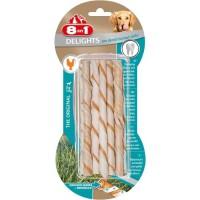 8IN1 Friandise stick a mâcher - Garni de viande de poulet - Hygiene bucco dentaire - Pour chien - 10 pieces