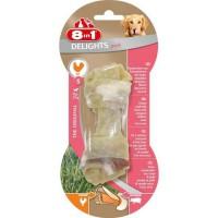 8in1 Os a mâcher au porc Delights - Taille S - Pour chien - Carton de 6 sachets