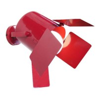 ABBAS Applique tôle acier repoussé 40x40x34 cm Rouge