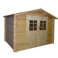 Abri de jardin en bois FSC brut - Surface 9,27m²