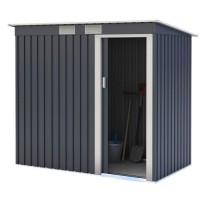 Abri de jardin en métal 2,43m² - 1 porte coulissante - Gris anthracite