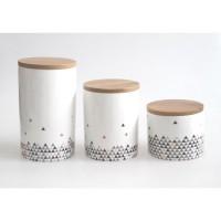 ABS -T1903804-6X - Lot de 6 pots de conservation - Porcelaine - Gamme Emma