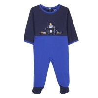 ABSORBA Pyjama bébé garçon en coton - Motif Happy Bear - Bleu