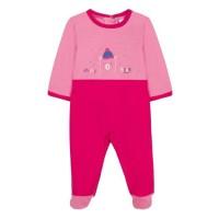 ABSORBA Pyjama bébé fille en coton - Motif Happy Bear - Rose Fuschia
