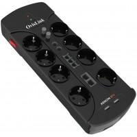 Ovislink Parasurtenseur Multimédia 8 prises coaxiale TV SAT RJ11 + 2 ports USB