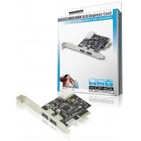 König carte PCI express USB 3.0 2x