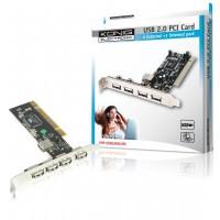 CARTE PCI USB 2.0 4+1 PORTS KÖNIG
