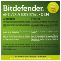 BITDEFENDER ANTIVIRUS ESSENTIAL MAJ 1 AN 1 POSTE VERSION OEM
