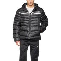 Adidas Doudoune Blouson Parka Homme - Noir / Blanc