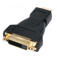 ADAPTATEUR HDMI (M) - DVI (F) PLAQUE OR