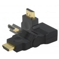 ADAPTATEUR HDMI FEMELLE VERS HDMI MALE PIVOTANT