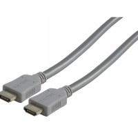 CABLE HDMI 19 PINS - 19 PINS SILVER - 2.5m