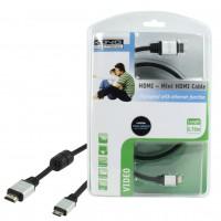 CABLE HDMI VERS MINI HDMI AVEC FONCTION ETHERNET 0.75M KÖNIG