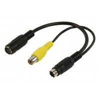 CABLE MINI DIN 7PINS VERS S-VIDEO + COMPOSITE