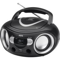 AEG SR 4374BK Boombox Radio Stéréo Aux-In + USB Port - Noir