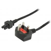 Valueline power cable UK plug - IEC320 C5 - 5.0m