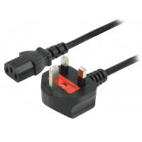 Valueline power cable UK plug - IEC320 C13 - 1.8m