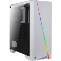 AEROCOOL Boîtier PC Cylon - Avec Fenetre pleine - RGB - Format ATX - Moyen Tour - Blanc