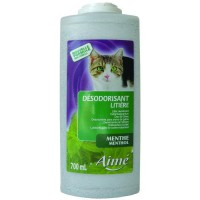 AIME Désodorisant pour litiere menthe 700ml - Pour chat